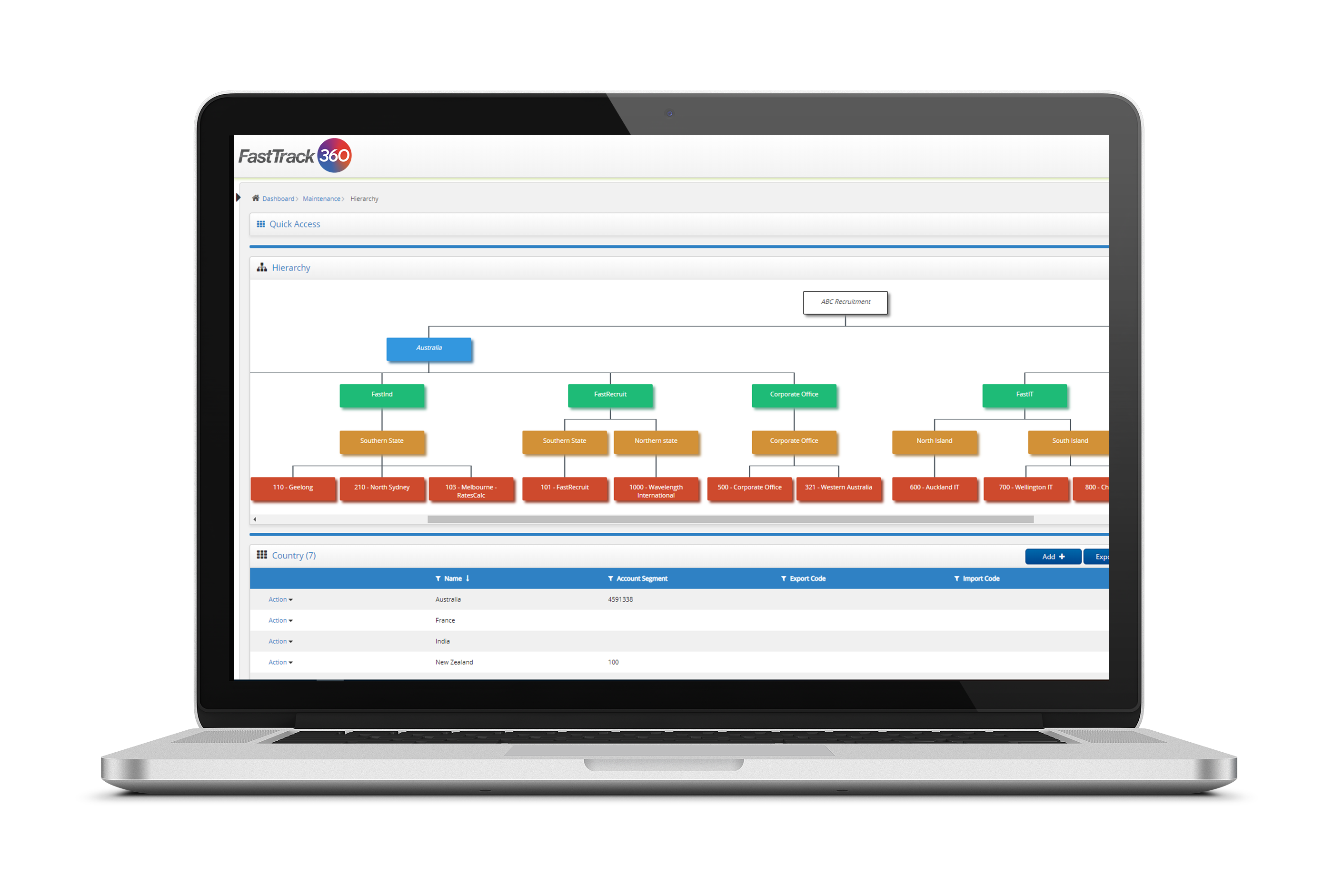 Designed to help you grow and scale, set up an organisational hierarchy in FastTrack360 end-to-end talent management software.