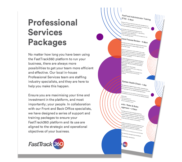 An image of FastTrack360 Professional Services packages